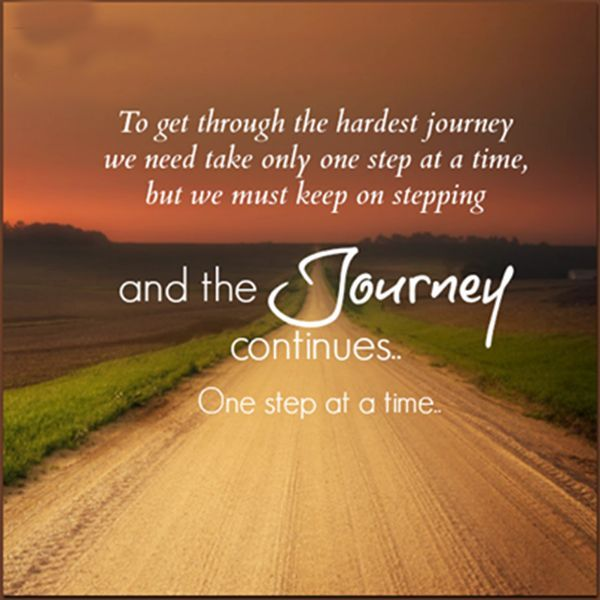 To Get Through The Hardest Journey We Need Take Only One Step At A
