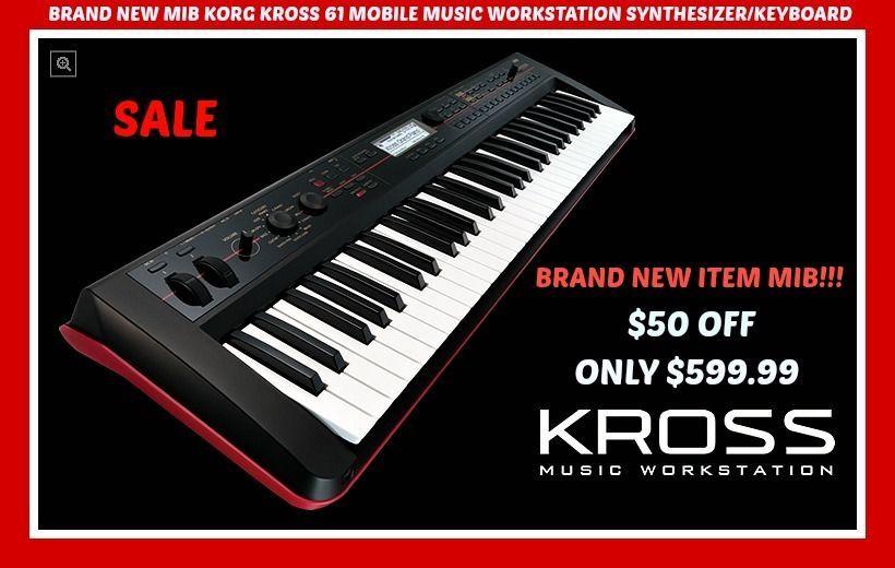 Korg Kross 61 Mobile Workstation Brand New In Box Mib Best Price Anywhere Sale Korg Korg Workstation Mobile Music