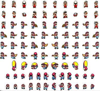 Super Mario World Sprite Sheet Pixel Art Games Sprite Perler