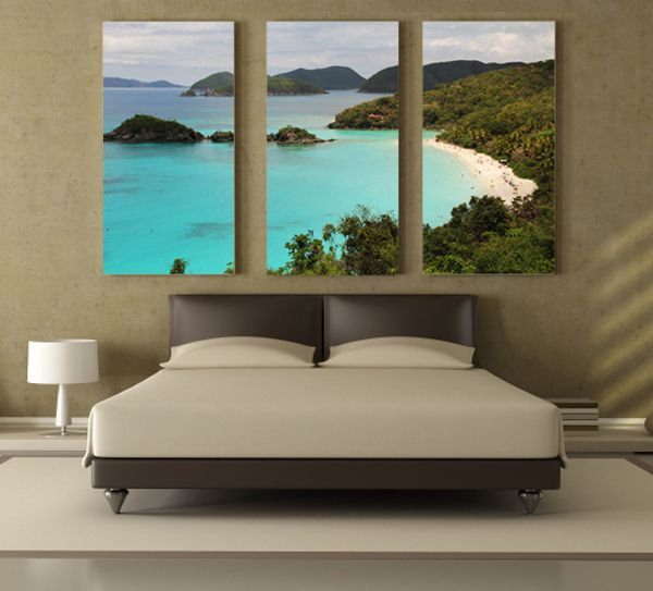one pic three canvases & Your favorite vacation getaway right above your bed. | project ...