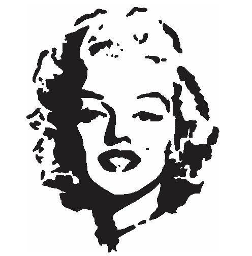 Marilyn Monroe stencil Laser cut into an x ray film