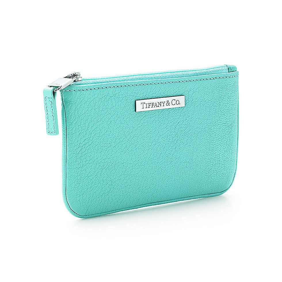 Flat pouch in Tiffany Blue® leather, small. | Tiffany & Co.