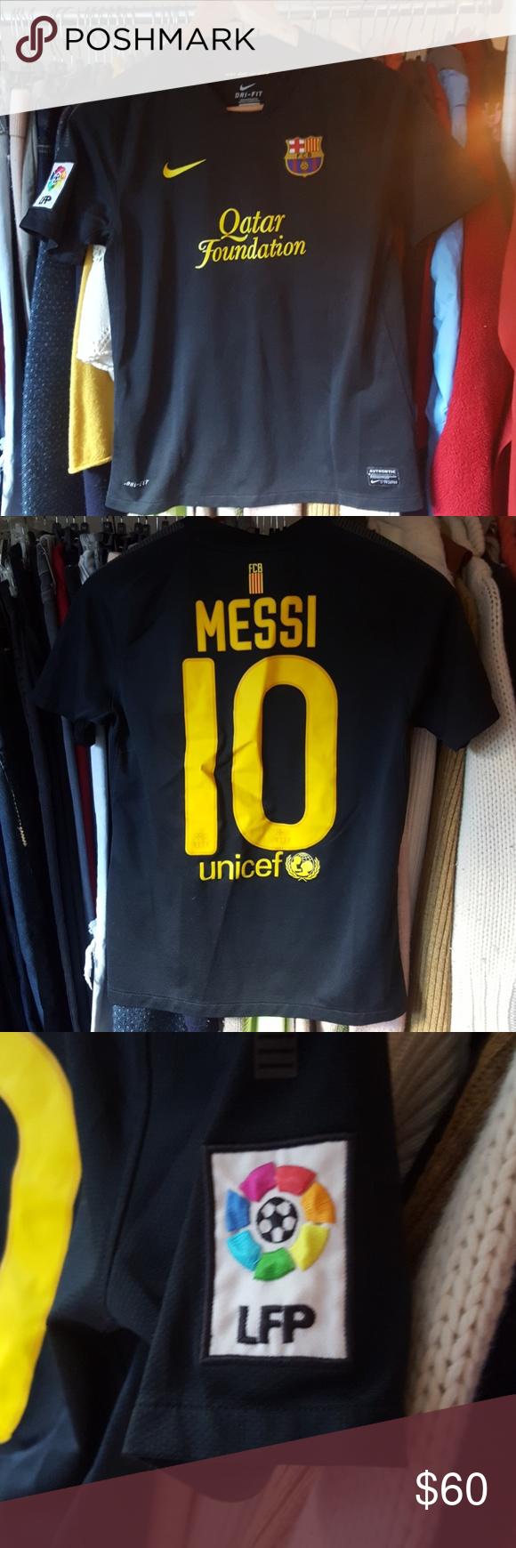 buy popular 91619 41d47 MESSI Soccer Jersey MESSI SOCCER JERSEY. Youth large fits ...