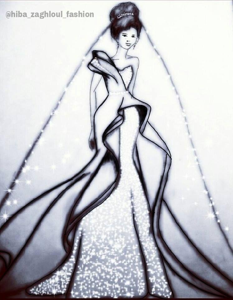 رسم هبة زغلول Aurora Sleeping Beauty Humanoid Sketch Art