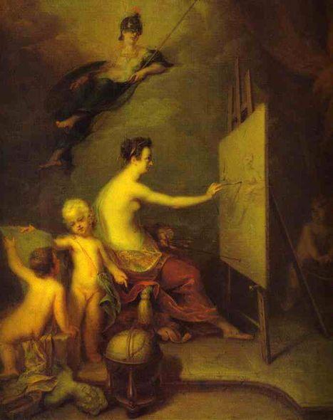 А. Матвеев. Аллегория живописи. 1725. ГРМ: