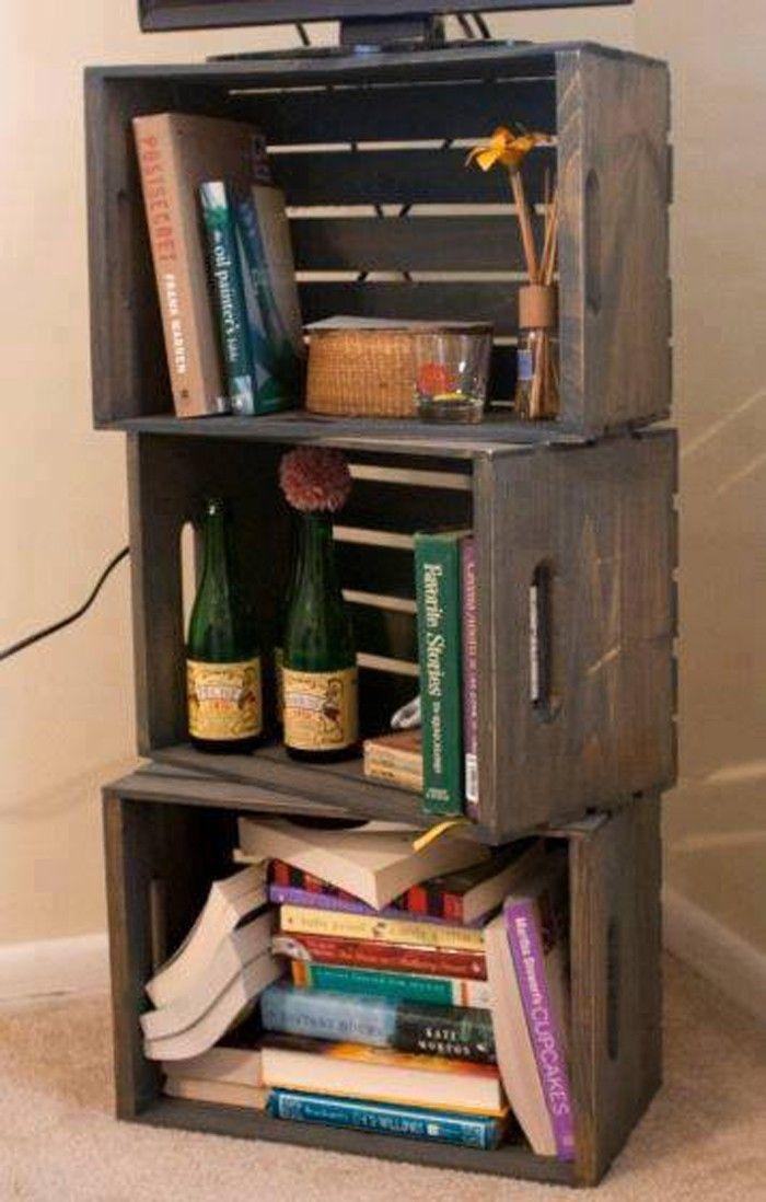 Über 55 Upcycling Ideen für Möbel aus Weinkisten  Kiste
