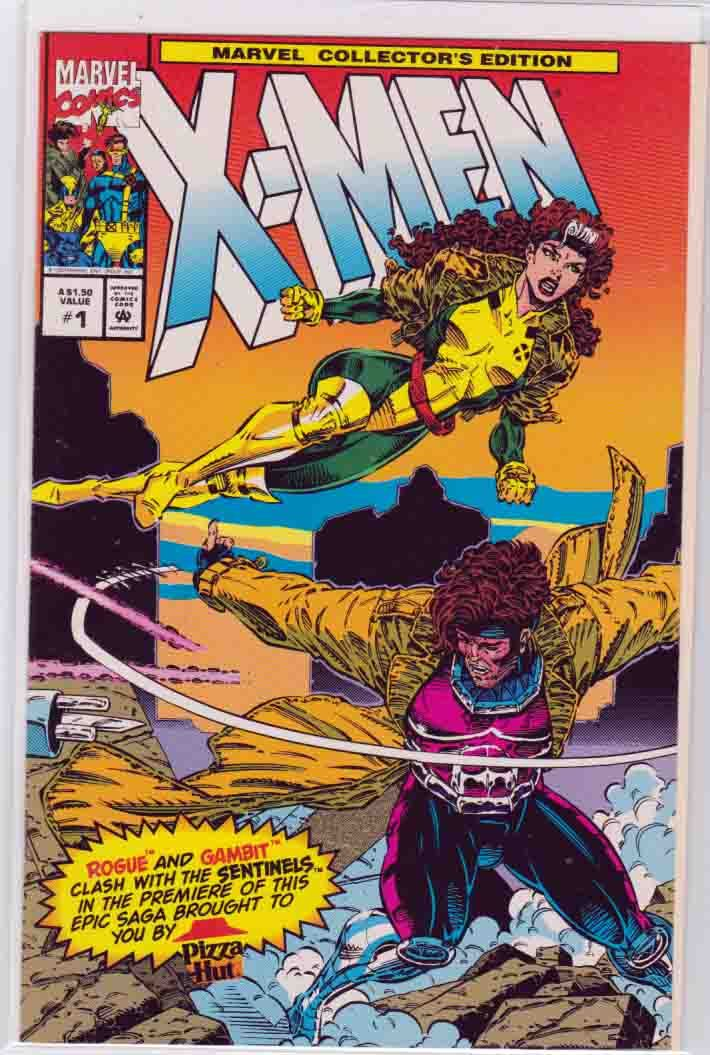 X Men Pizza Hut Special Edition 1993 Marvel Rogue X Men Comics