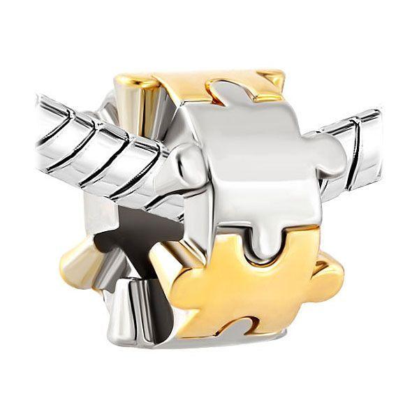 Puzzle Piece Charm Bead