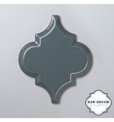 mozaika ceramiczna Arabeska carska, szara, połysk