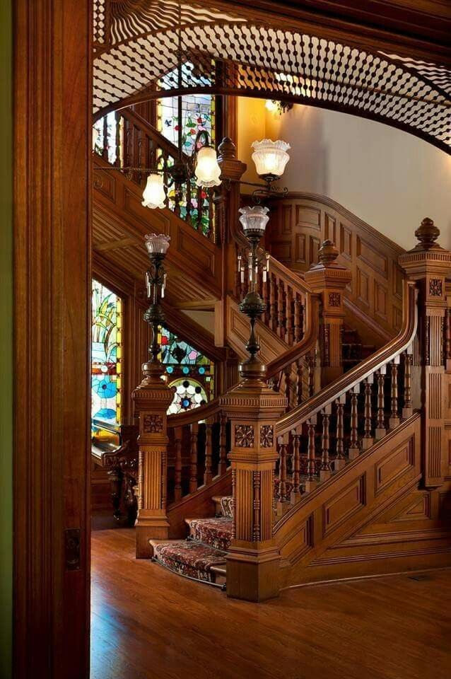 Best The Stairs At Oscar's Mansion Probably Victorian Homes 400 x 300