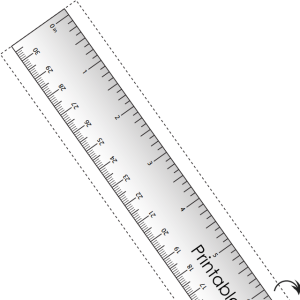 Decisive image throughout online printable ruler