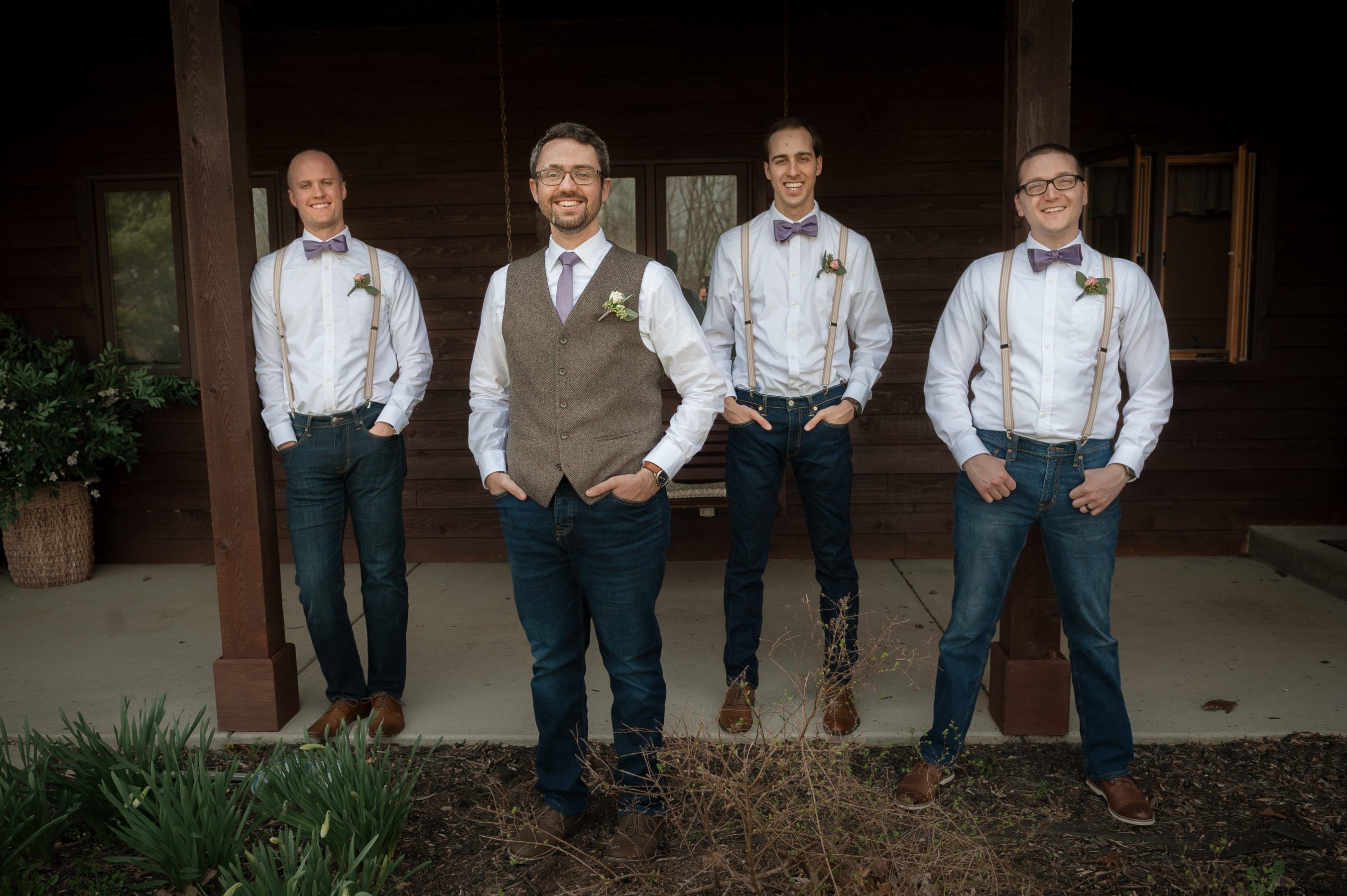 Spring Cherry Blossom Wedding in Athens Ohio Jeans