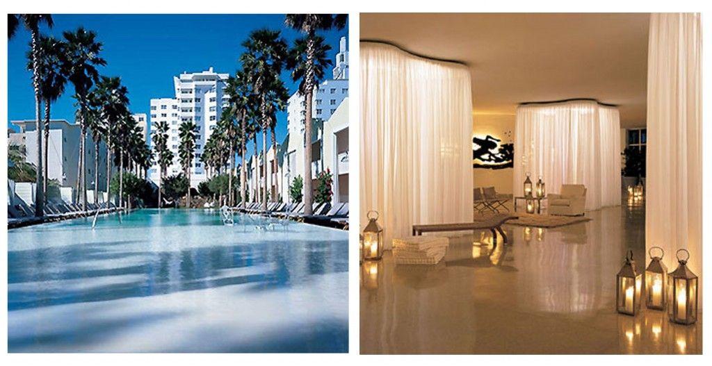 Maravilloso Hotel Delano, en South Beach. Interior diseñado por Phillipe Stark. Del grupo Morgans.