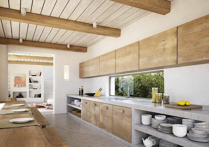 küche einrichten naturholzmöbel holzmöbel massivmöbel Holzhaus - modern küche design