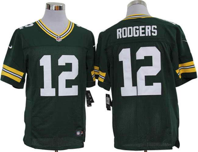 Size 60 4XL Green Bay Packers  12 Aaron Rodgers Green Stitched Nike Elite NFL  Jerseys 5acc5f960