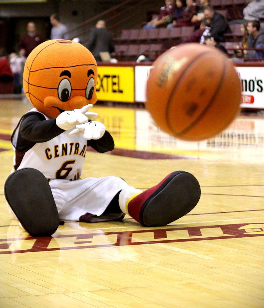 Central michigan chippewas basketball mascot rowdie