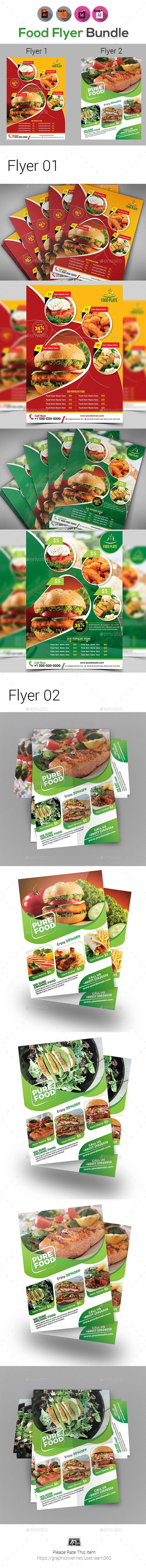 food flyers bundle templates template ai illustrator and food