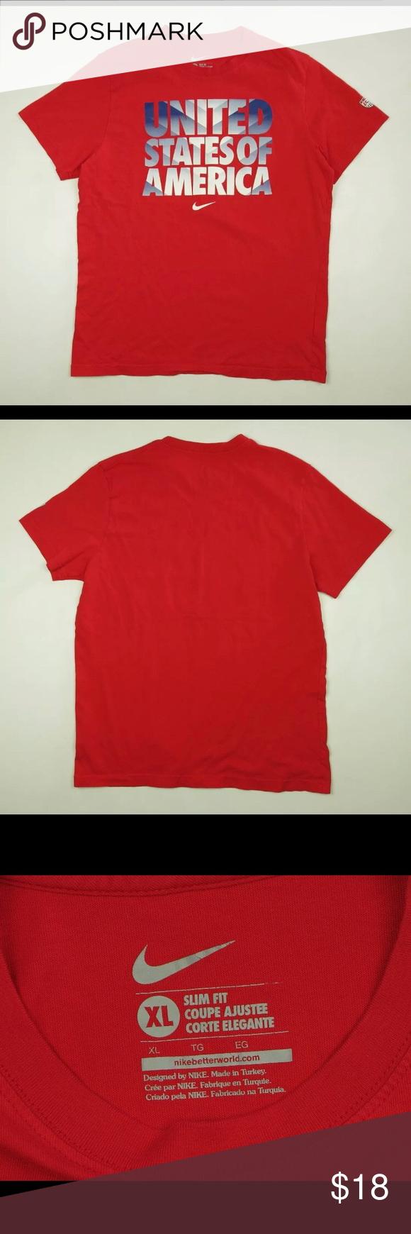Nike United States Of America Red Xl T Shirt Shirts Tee Shirts T Shirt [ 1740 x 580 Pixel ]