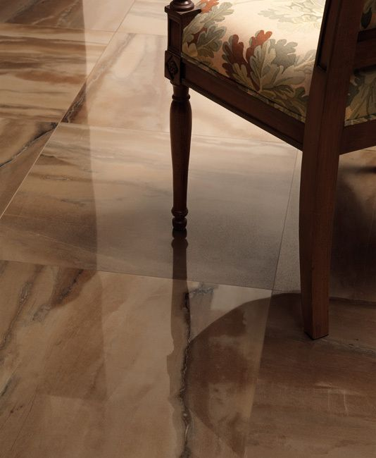 Luxor Brown 24in X 24in Marble Effect Polished Porcelain Tile Polished Porcelain Tiles Stoneware Tile Ceramic Floor