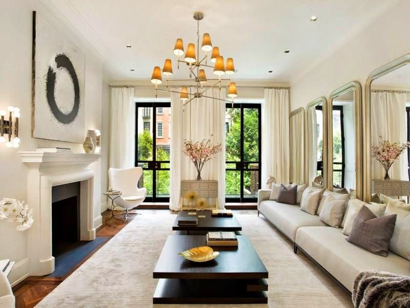 13 Million Dollar Nyc Townhouse See This House Sconces Living Room Sunken Living Room Nyc Townhouse