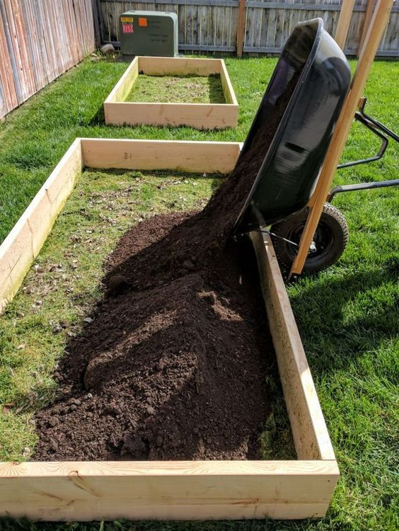 How To Build Raised Garden Beds is part of Building a raised garden, Diy raised garden, Raised garden, Raised garden beds diy, Building raised garden beds, Backyard garden - Follow this tutorial to learn how to build raised garden beds for cheap  This design is easy and includes garden layout ideas