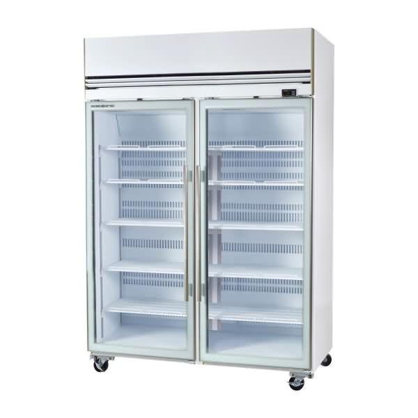 Skope 1310l 2 Glass Door Upright Freezer Vf1300x Upright Freezer Glass Door Frameless Glass Doors