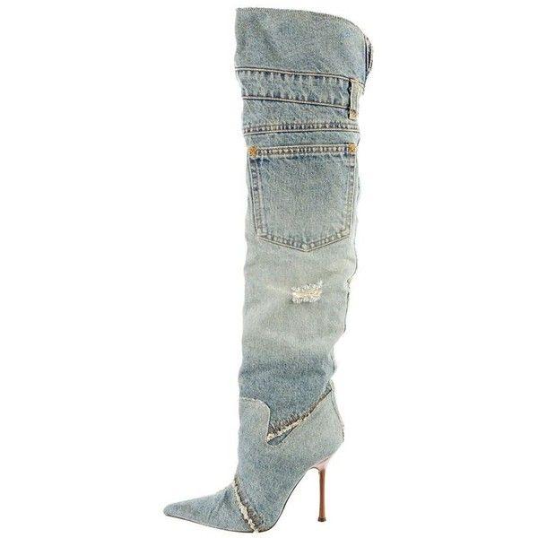 4a2d2e7b774a (1) Dolce   Gabbana Thigh-High Denim Boots