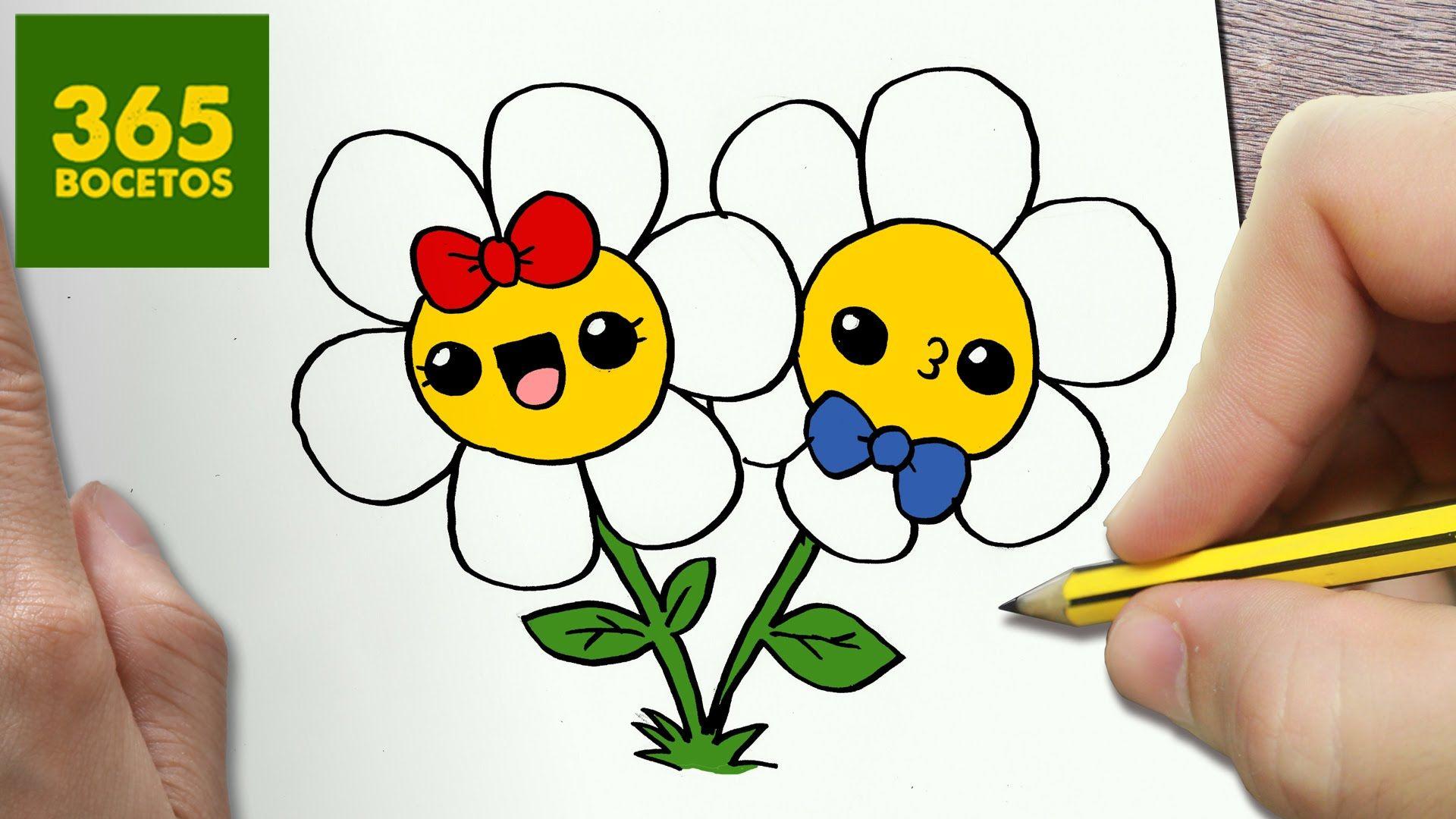 Como Dibujar Flores Kawaii Paso A Paso Dibujos Kawaii Faciles