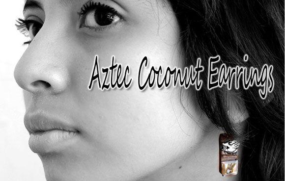 Aztec Coconut Earrings