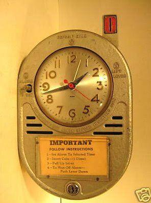 Coin Operated Alarm Clock Strange