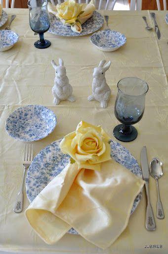 Easter table setting ~ beautiful