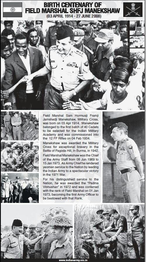 Field Marshal Manekshaw Military Motivation Indian Army Field Marshal