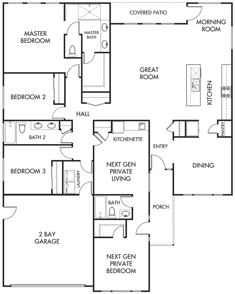 Multi-Generation Homes Floor Plan
