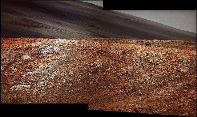 "Opportunity at Solander Point - sol 3604 PanCam - ""Courtesy NASA/JPL-Caltech"" processing 2di7 & titanio44"