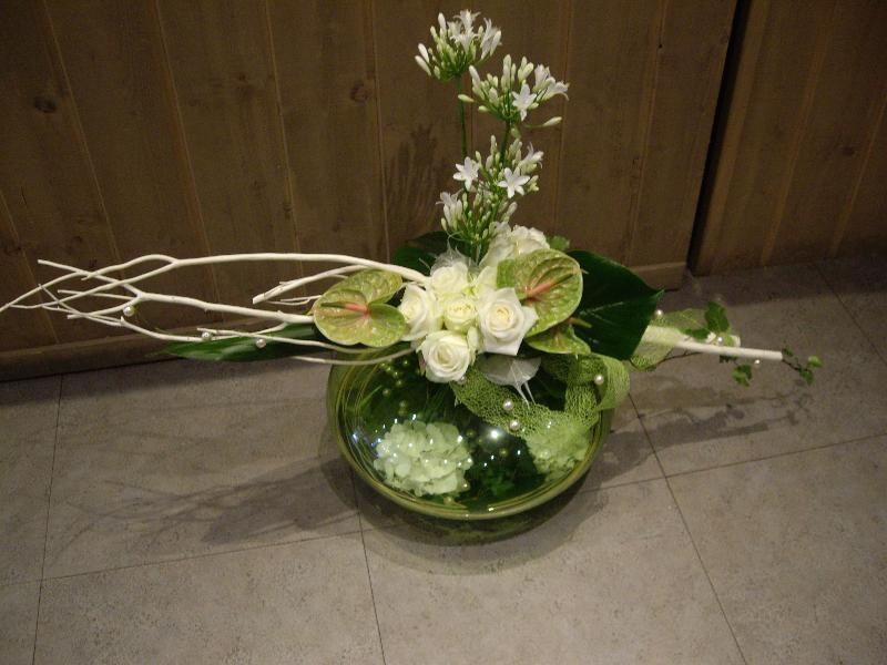 Composition florale compositions florales dunkerque for Composition florale avec bois flotte