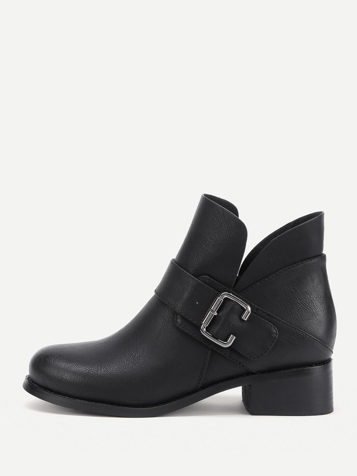 e7ae58e4cbccb Boots by BORNTOWEAR. Side Buckle Decorated Pu Ankle Boots