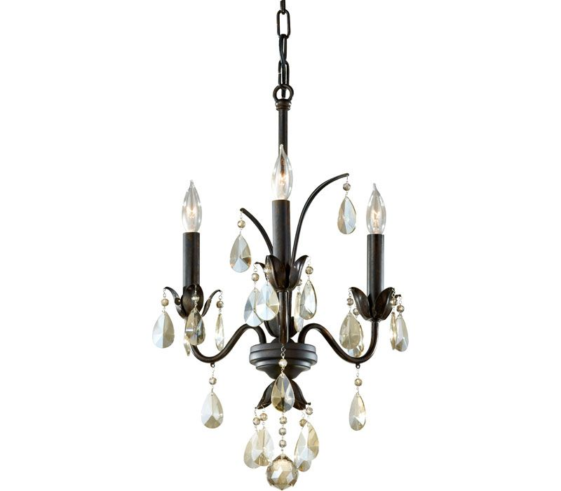 Murray Feiss Lighting F2756/3LBR Charlene 3LT Chandelier at Del Mar Fans & Lighting, over 100,000 happy customers