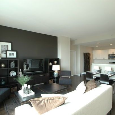 Dark Gray Accent Wall Movin 39 On Up Living Room Pinterest Walls Living Rooms And Room