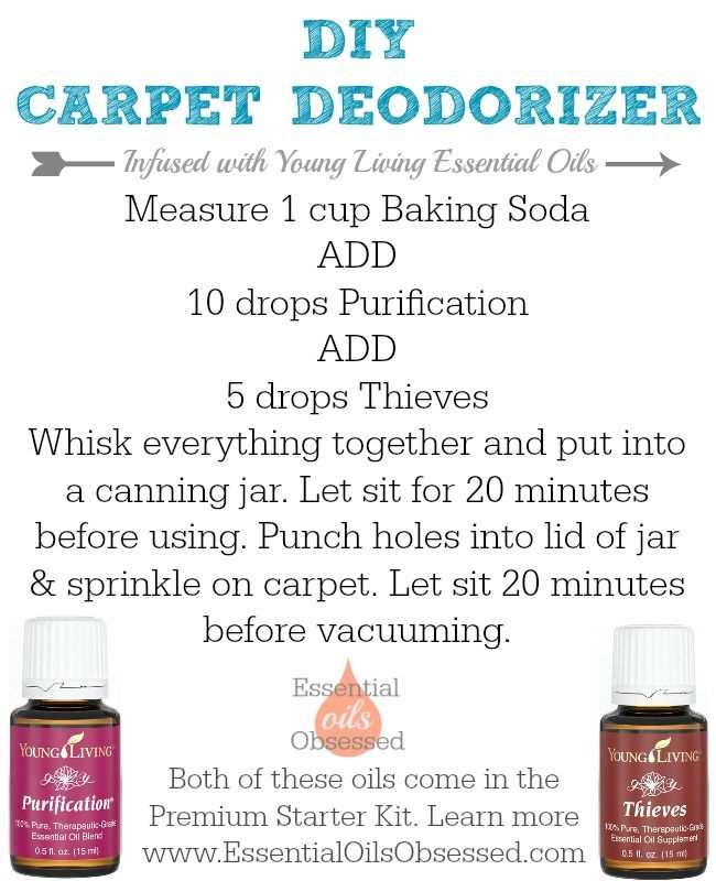 Deodorize Your Carpets With This Simple All Natural Recipe Using Baking Soda Young Living Essen Essential Oils Cleaning Living Essentials Oils Essential Oils