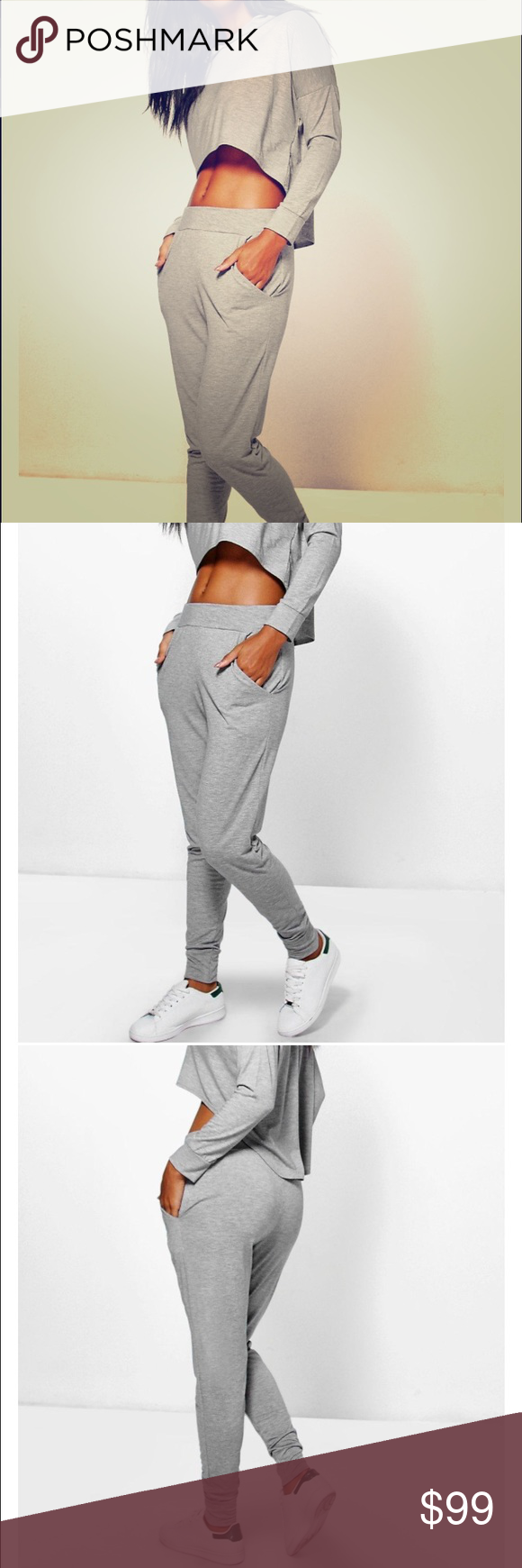Amazing grey European jumpsuit jogging set You get top and bottom!!! Message with questions! High fashion brand from the UK! Zara Pants Track Pants & Joggers
