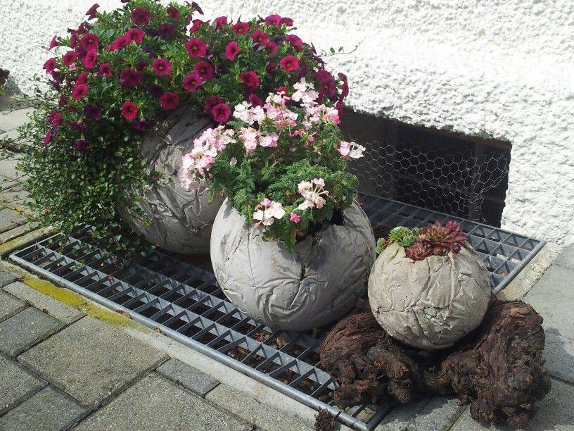Betonkugeln bepflanzt handmade with love bmosimann beton zemet usw pinterest zement - Pinterest beton ...