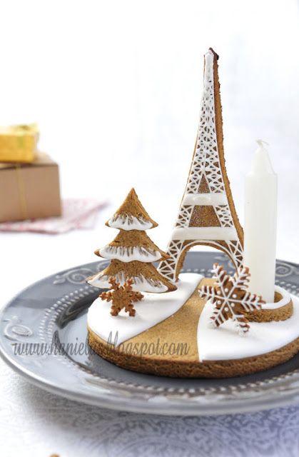 Haniela\u0027s ~Eiffel Tower Gingerbread Centerpiece~ inspiration