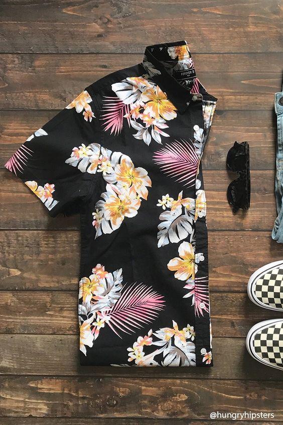 Camisa Resort Masculina 2a524476a7e56