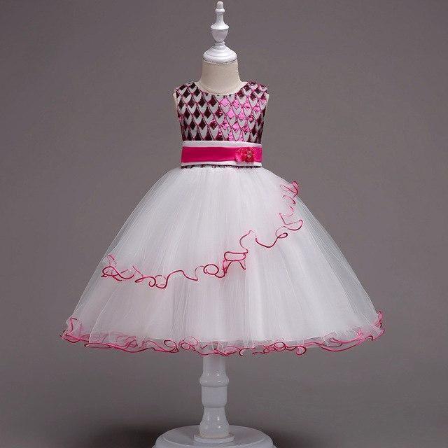 06c3f1624a4e5 Metallic Fancy Dress in Pink, Green, Blue, or Gold Size 4t-14 Girls ...