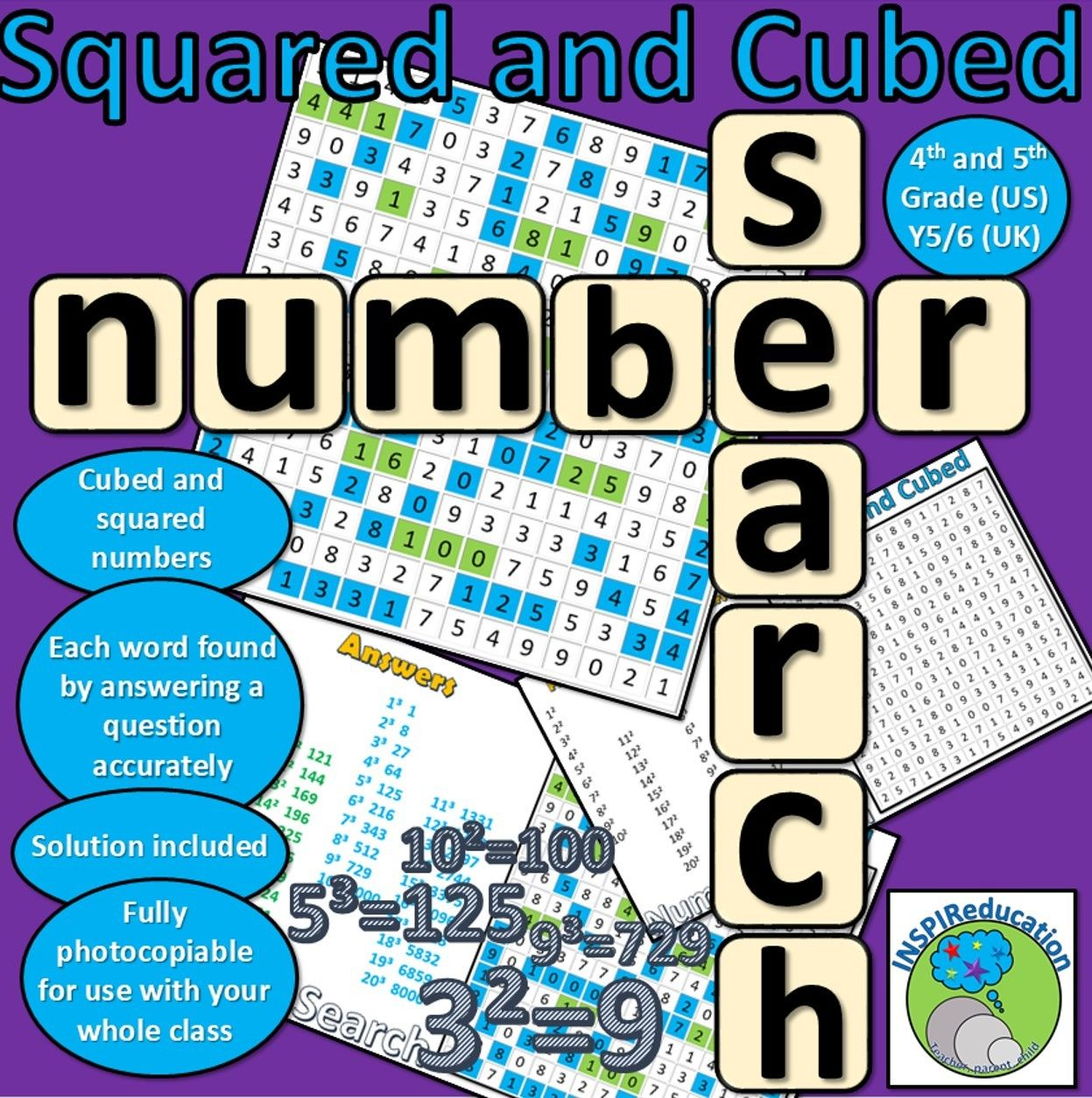 Squared And Cubed Numbers