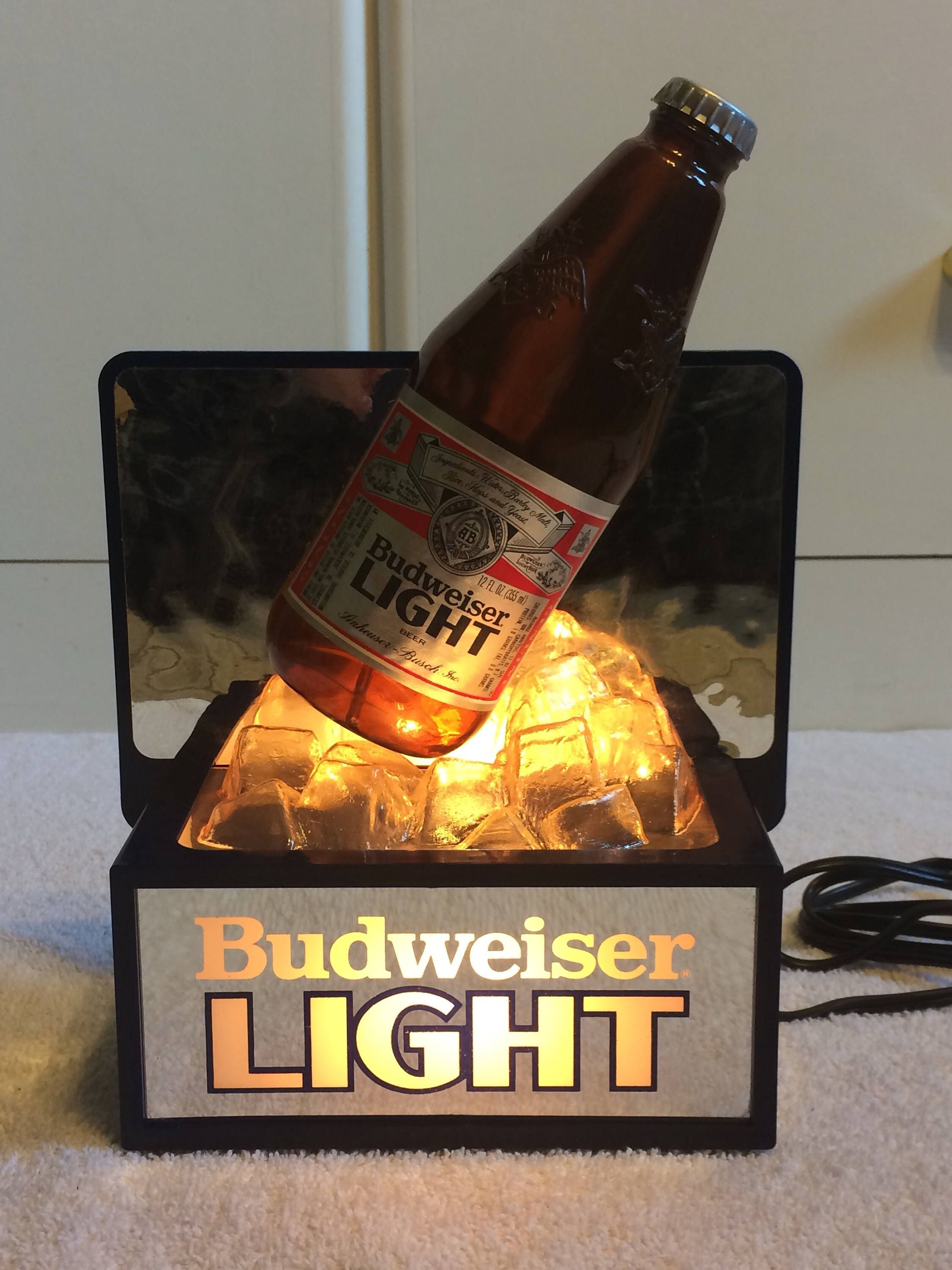 A Personal Favorite From My Etsy Shop  Https://www.etsy.com/listing/532793031/rare Vintage Budweiser Light Lighted