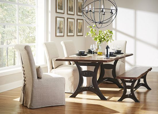 River City Dining Table With Bench Different Chairs