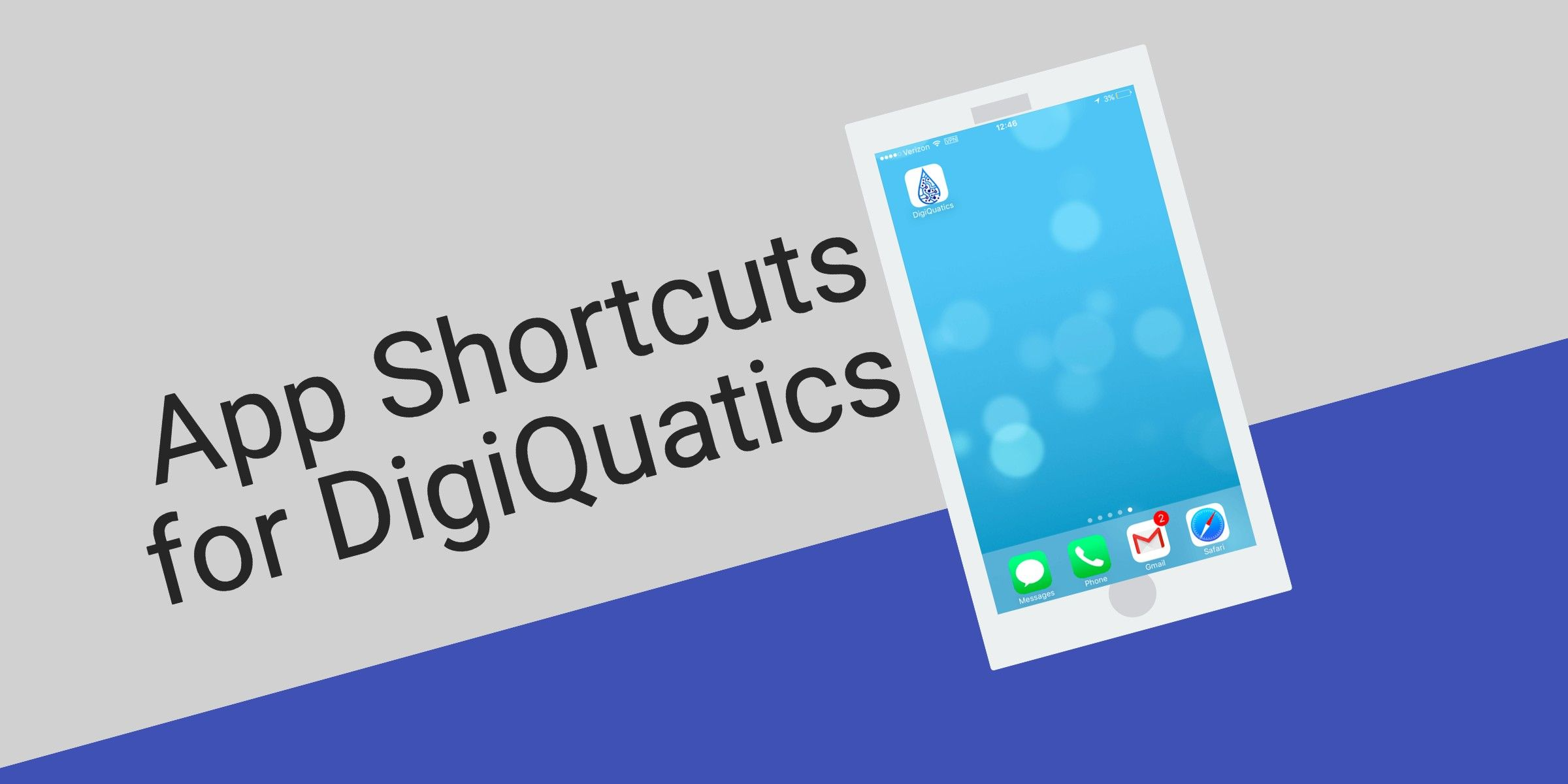 How to add the DigiQuatics App Icon to your Home Screen