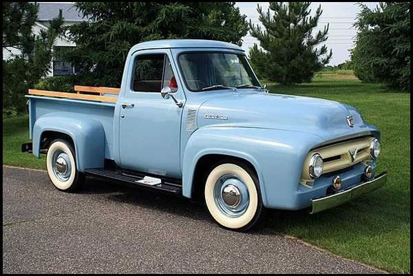 53 Ford F 100 With Images Vintage Pickup Trucks Classic
