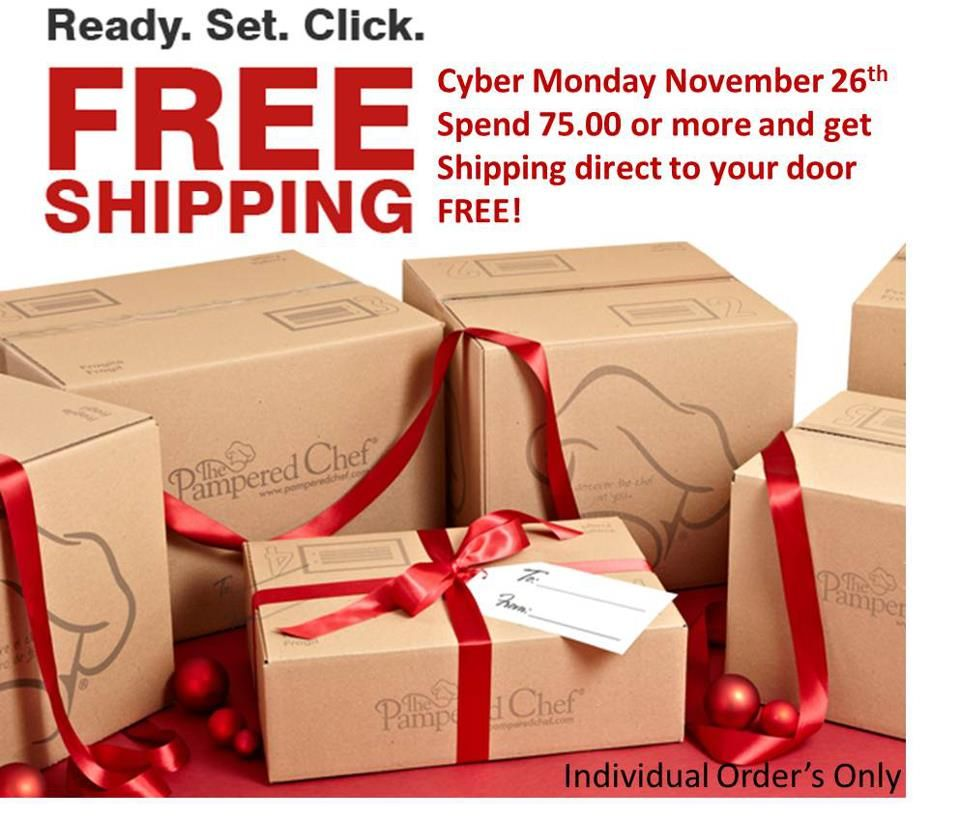 Pampered Chef Free Shipping On Cyber Monday For Online